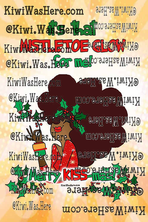 Mistletoe Glow Downloadable Phone Wallpaper