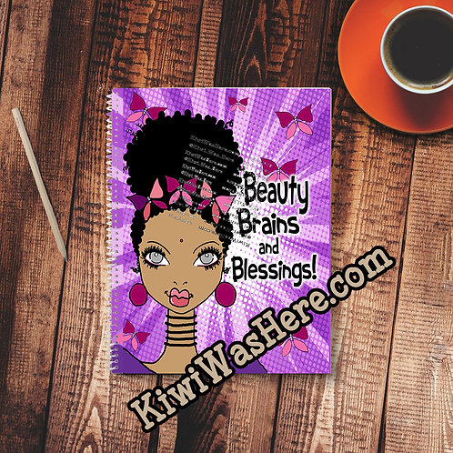 Beauty Brains Blessings - Notebook