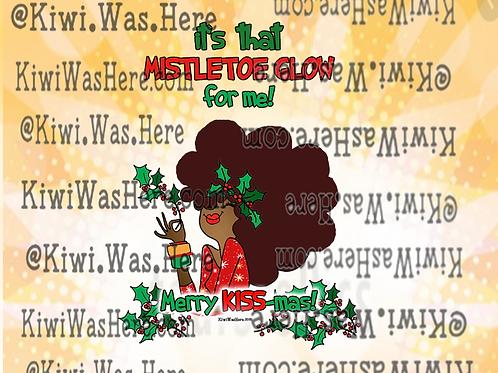 Mistletoe Glow Downloadable Desktop Wallpaper