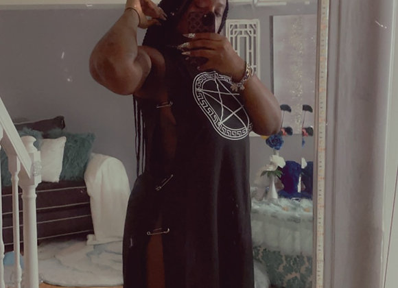 Split pin dress/shirt