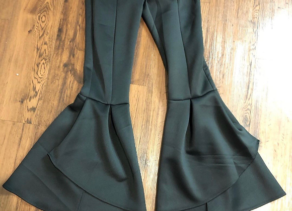 Flowered bottom bell bottom pants