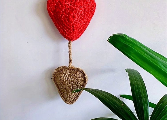 Heart knob hanging