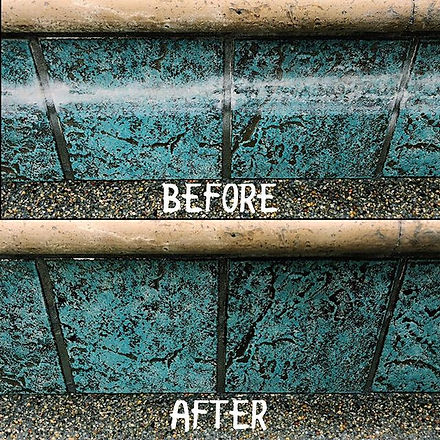 Another nice pool tile cleaning job! The