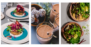Vegan Burges, Date smoothies & Mussel Pots