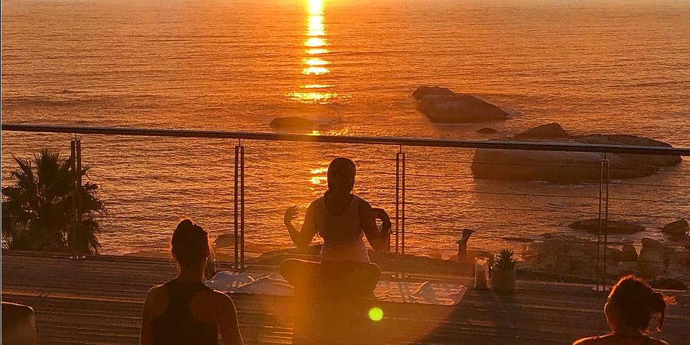 February Sunset Yoga, Champagne & Canapés