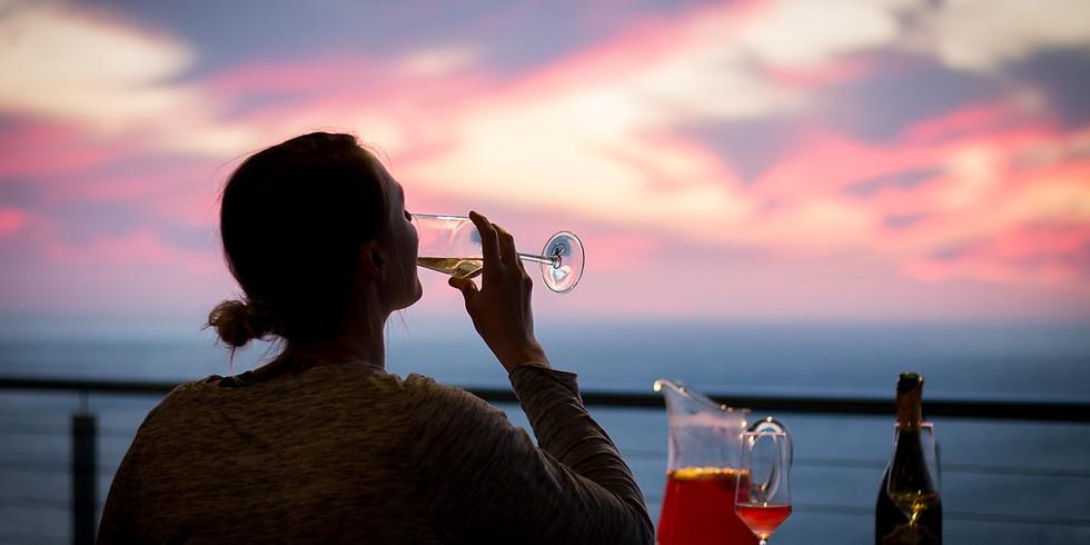 November Sunset Yoga, Champagne & Canapés