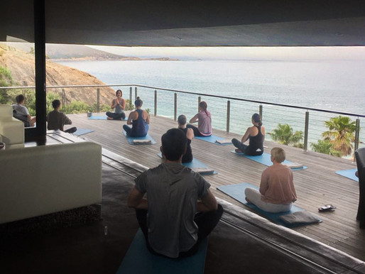 My magical, emotional first yoga experience with Hello Happiest at 26 Sunset Villa.