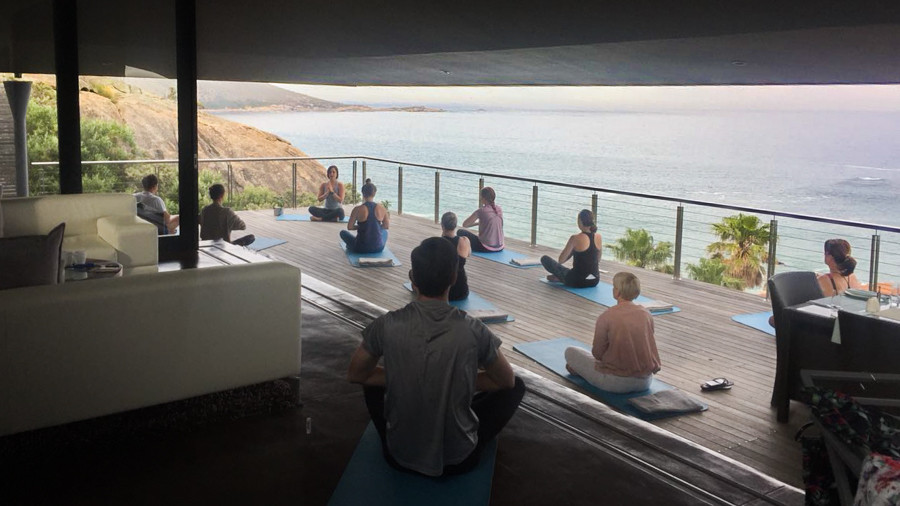 Yoga with uninterrupted ocean views