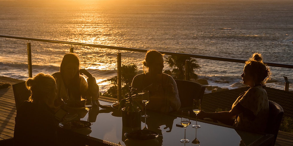 January Sunset Yoga, Champagne & Canapés