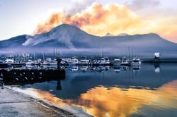 mountain fire
