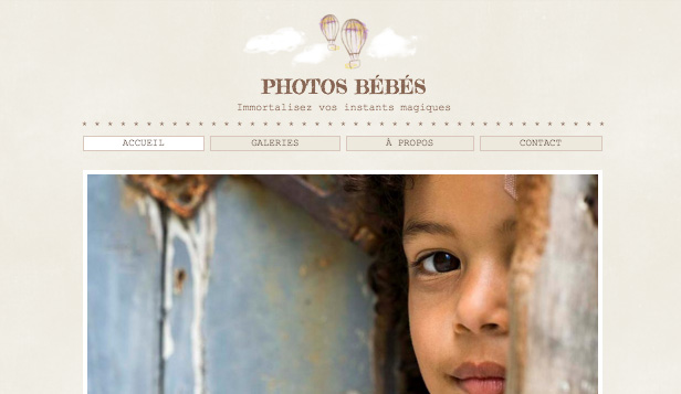 Photographie website templates – Photographe Enfants