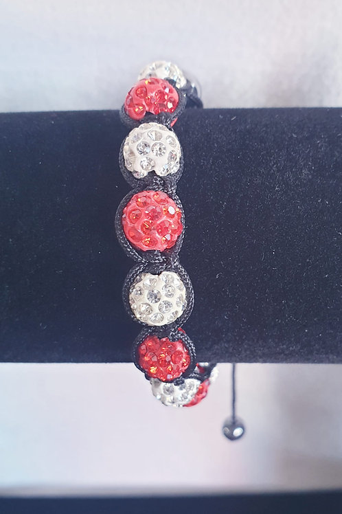 Natural red and White stones Bracelet.