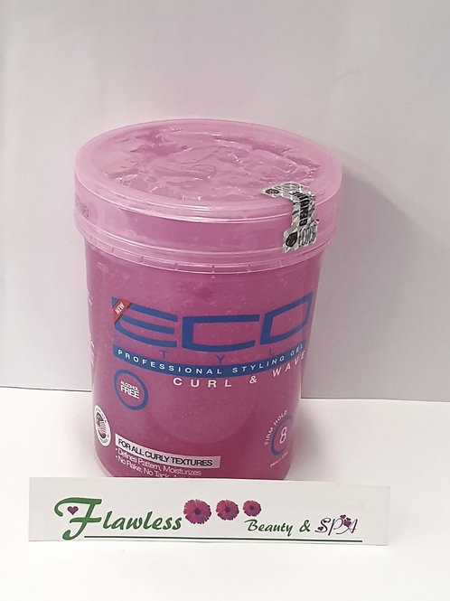 Eco Styler Professional Curl & Wave Firm Hold Styling Gel, Pink 32oz 946ml