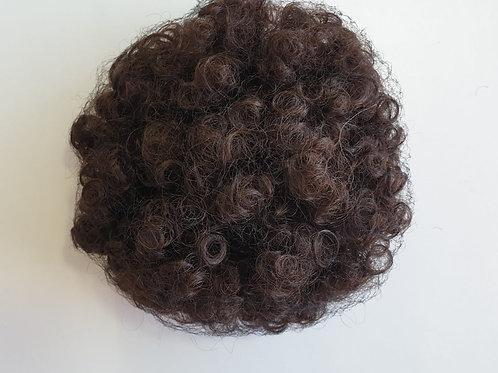 Afro kinky curly warop Bun, color 4
