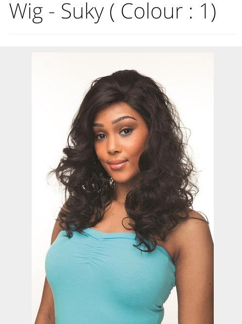Cherish lace front full synthetic long wavy hair wig – Suky