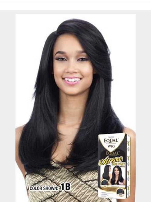 Freetress Equal Synthetic Hair Long Straight Wig Extreme Side Part Ursula