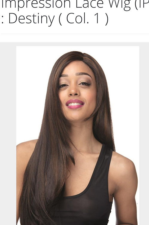 Impression Invisible L Part Long Straight Lace Front Wig Destiny