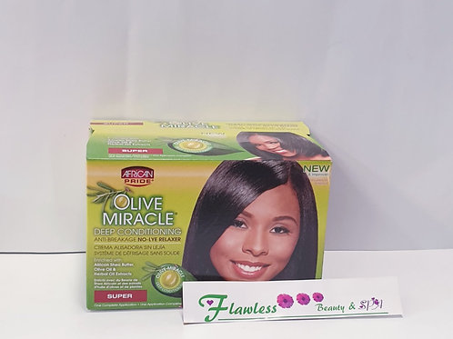 Olive Miracle Deep Conditioning Anti Breakage No Lye Relaxer, Super
