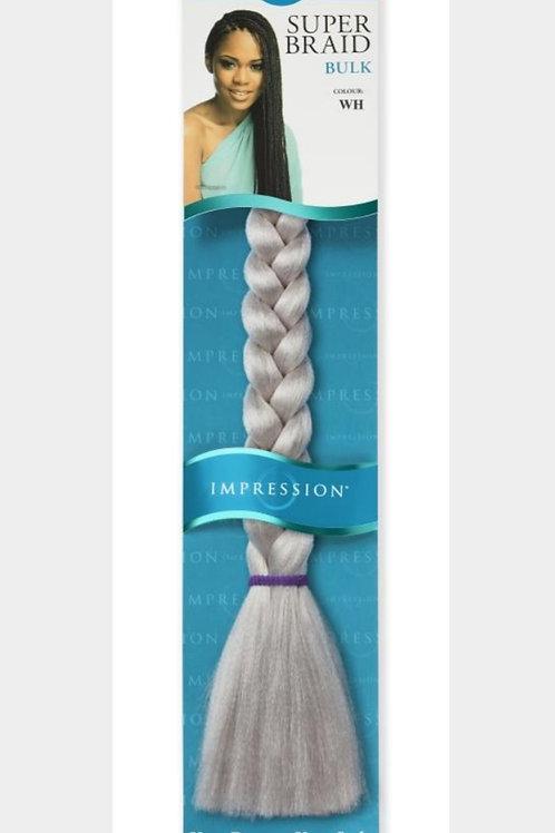 Impression Supe Jumbo Braids Bulk 100g color Silver WH