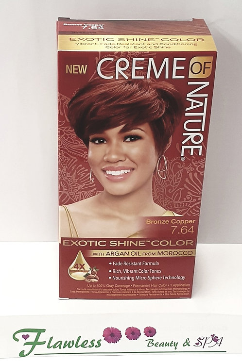 Creme of Nature Exotic Shine Color 7.64 Bronze Copper Permanent Hair Color