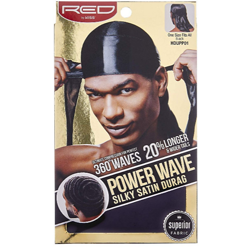 Power Wave Silky Satin Durag - Black