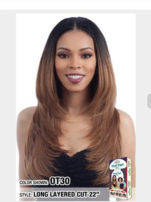 FreeTress Equal Synthetic Hair Wig Oval Part Wig Long Layered Cut 22