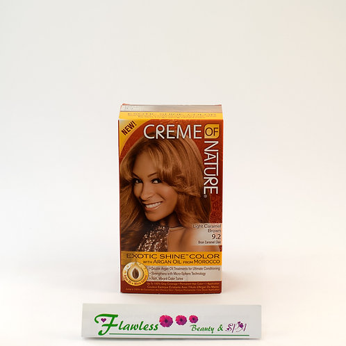 Creme of Nature Hair Exotic Shine Color Light Caramel Brown 9.2