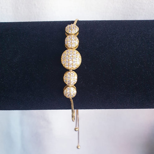 Beauty Bracelet with swarovski stones for Woman with adj Yellow Gold Plated