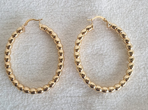 Round Creole Gold plated Earring