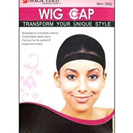 Wig Cap Hair 2 Pack Black