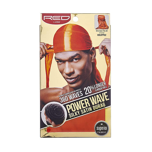 Power Wave Silky Satin Durag - Orange
