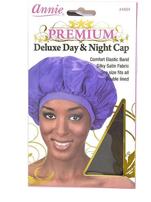 Premium Deluxe Satin Bonnet Black Universal Size.  Purple