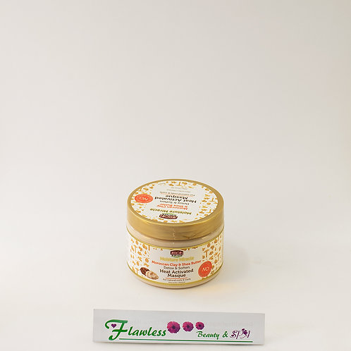 African Pride Moisture Miracle Moroccan Clay & Shea Butter Heat Activated Masq