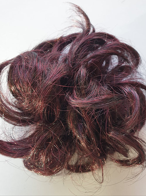 Wavy Bun Scrunchie Systhetic hair