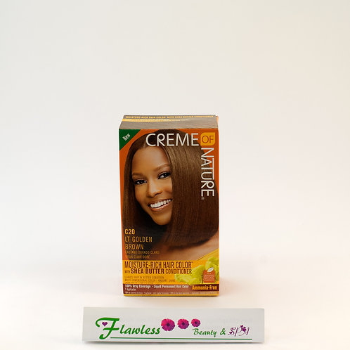 Creme of Nature Moisture Rich Hair Color C20 LT Golden Brown