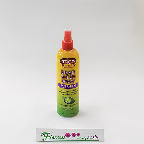African Pride Olive Miracle Braid Sheen Spray Extra Shine 355ml