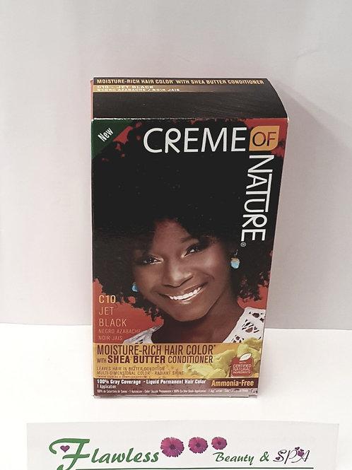 Creme Of Nature Moisture-Rich Hair Color - C10 Jet Black - C10 Jet Black