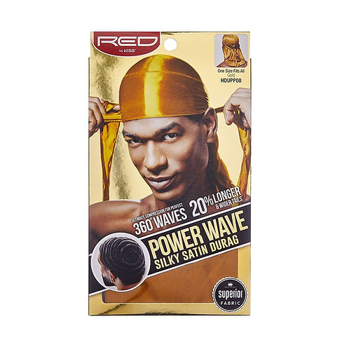 Power Wave Silky Satin Durag -Gold