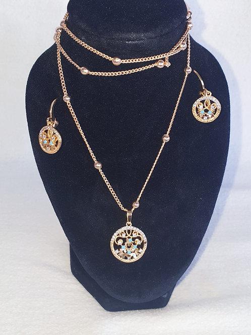 Blue Topaz jewelry set