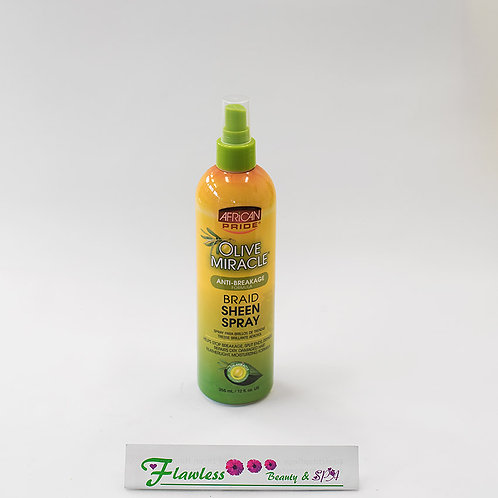 African Pride Olive Miracle Braid Sheen Spray 355ml