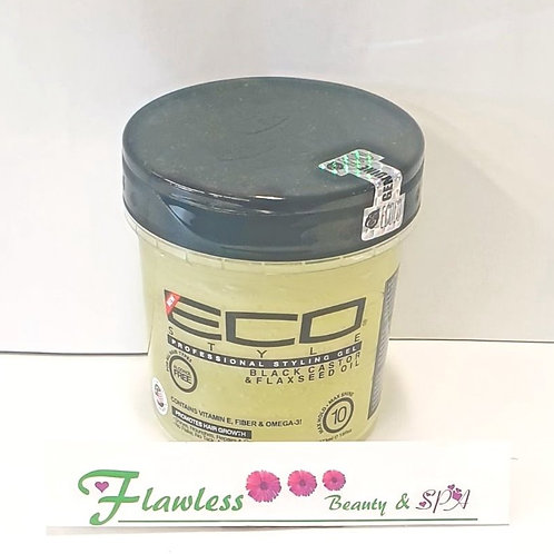 Eco Style Black Castor & Flaxseed Oil Conditioning, Styling, Shining Gel 473ml