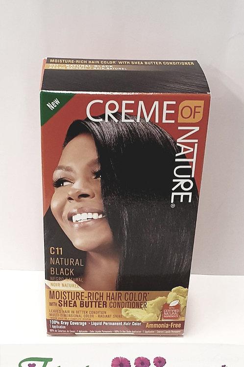 Creme Of Nature Liquid Hair Color Kit Natural Black-C11