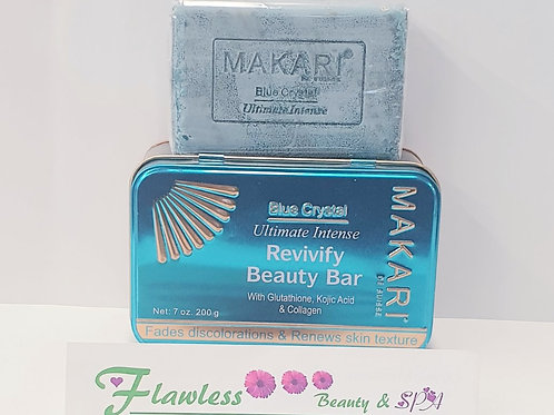 Makari Blue Crystal Revivify Beauty Bar 200g