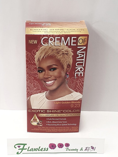 Colomer Creme Of Nature Exotic Shine Permanent Hair Color, 9.23 Light Golden Blo