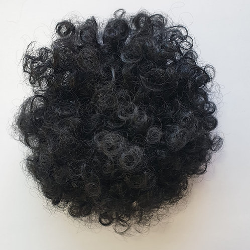 Afro kinky curly warop Bun, color 1