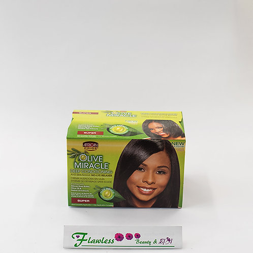 African Pride Olive Miracle Deep Conditioning Anti-Breakage No Lye Relaxer,super