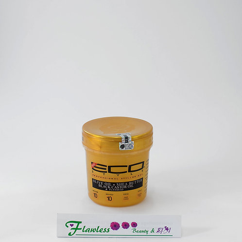 ECO STYLE GEL - OLIVE OIL & SHEA BUTTER BLACK CASTOR OIL & FLAXSEED 236ml
