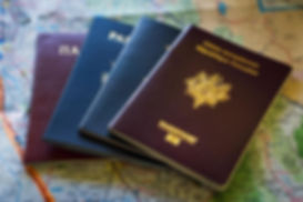 italy, france and belgium passports