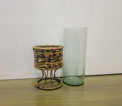 Glass Holder w/ Metal Stand