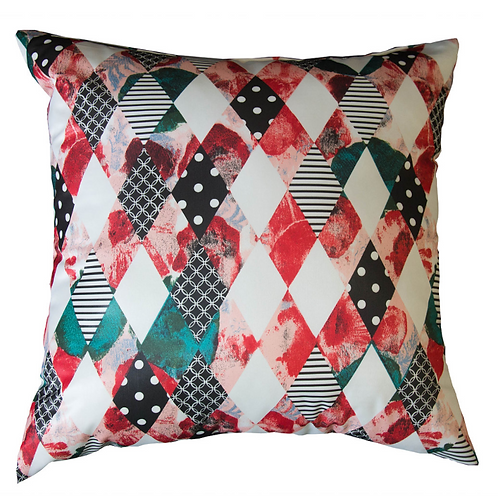 Checkered Silk Throw Pillow